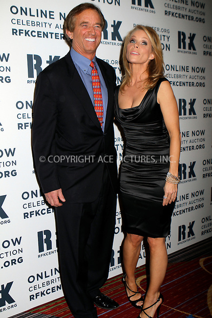 WWW.ACEPIXS.COM....December 3 2012, New York City....Robert Kennedy Jr. and Cheryl Hines attend the Robert F. Kennedy Center for Justice and Human Rights 2012 Ripple of Hope gala at The New York Marriott Marquis on December 3, 2012 in New York City....By Line: Nancy Rivera/ACE Pictures......ACE Pictures, Inc...tel: 646 769 0430..Email: info@acepixs.com..www.acepixs.com