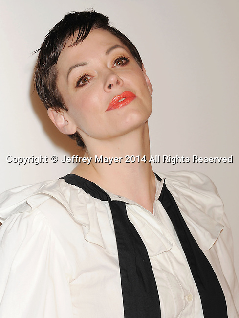 LOS ANGELES, CA- OCTOBER 01: Actress Rose McGowan attends The Academy of Motion Picture Arts and Sciences' Hollywood Costume Opening Party at the Wilshire May Company Building on October 1, 2014 in Los Angeles, California.