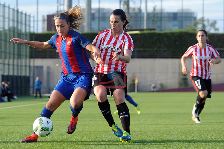 Spanish Women's Football League Iberdrola 2016/17 - Game: 11.<br /> FC Barcelona vs Athletic Club: 2-1.<br /> Alexia Putellas vs Eunate.