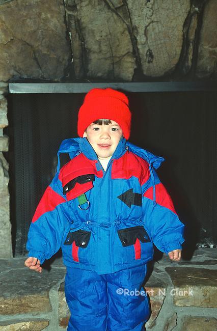 Boy in snow suit