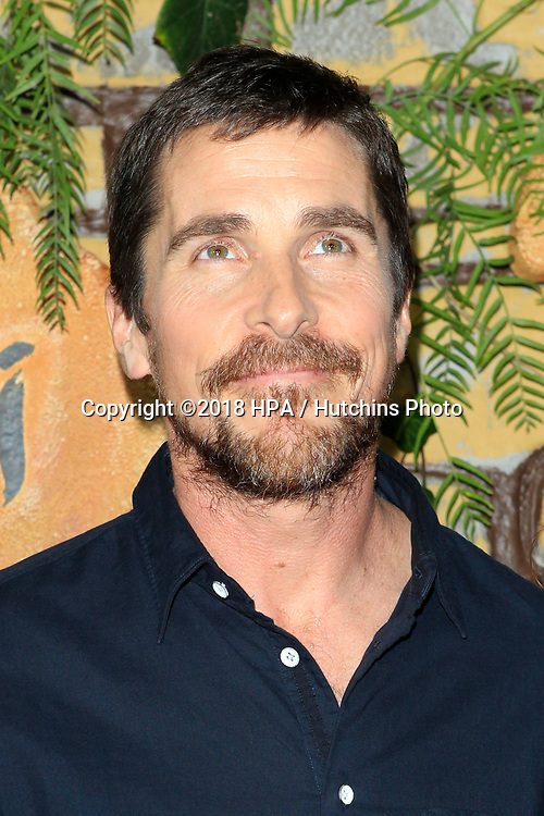 "LOS ANGELES - NOV 28:  Christian Bale at the ""Mowgli: Legend of the Jungle"" Premiere at the ArcLight Theater on November 28, 2018 in Los Angeles, CA"