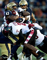 Photography of the U.S. Naval Academy Midshipmen vs. Temple Owls, Saturday afternoon October 13, 2018 at Navy-Marine Corps Memorial Stadium.<br /> <br /> Charlotte Photographer - PatrickSchneiderPhoto.com