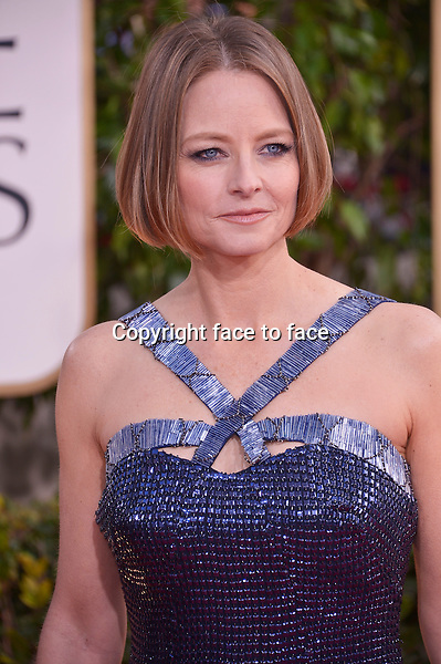 Jodie Foster arriving at the 70th Annual Golden Globe Awards held at The Beverly Hilton Hotel on January 13, 2013 in Beverly Hills, California...credit: face to face