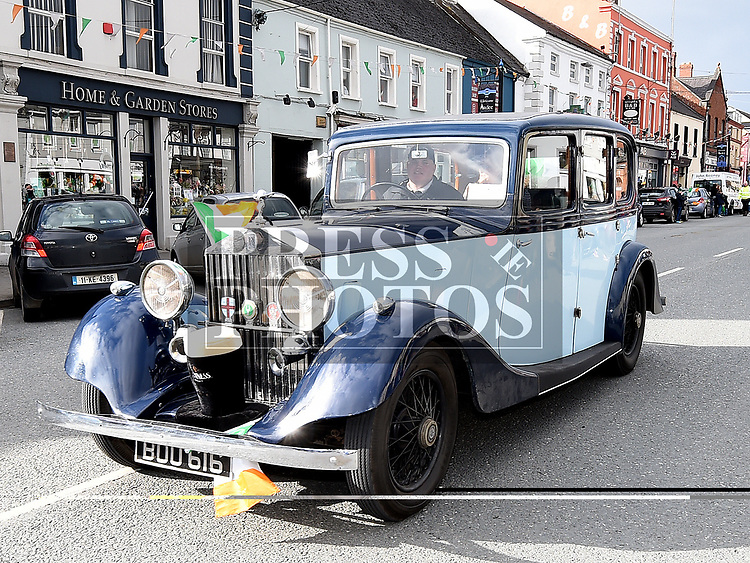 Colman O'Flynn Grand Marshal of the 2018 Ardee St. Patrick's day parade with Hughie O'Neill. Photo:Colin Bell/pressphotos.ie