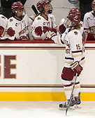 Makenna Newkirk (BC - 19) - The Boston College Eagles defeated the visiting UConn Huskies 4-0 on Friday, October 30, 2015, at Kelley Rink in Conte Forum in Chestnut Hill, Massachusetts.