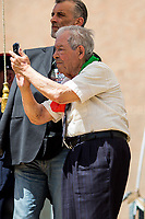Mario Di Maio (Antifascist Partizan. Member of the Partigiani: the Italian Resistance during WWII).<br /> <br /> Rome, 25/04/2018. Today, to mark the 73rd Anniversary of the Italian Liberation from nazi-fascism ('Liberazione'), ANED Roma & ANPI Roma (National Association of Italian Partizans) held a march ('Corteo') from Garbatella to Piazzale Ostiense where a rally took place attended by Partizans, Veterans and politicians – including the Mayor of Rome and the President of Lazio's Region. From the organisers Facebook page:<<For the 25th of April, the 73rd Anniversary of the Liberation of Italy from nazi-fascism, while facing new threats to the world peace, it is necessary to remember that the Fight for Liberation triggered the greatest, positive, 'break' of the whole modern age of the Italian history. The Fight for the Liberation was supported by a great solidarity of the people. The memory of those who in the partizan struggle, in the camps of imprisonment, internment or extermination, opposed - even until the sacrifice of life - the dictatorship, the greed of territorial conquests, crazy ideologies of race supremacy, constitutes concrete warning against any attempt to undermine the foundations of the free institutions born of the Resistance. Memory is not an instrument of hatred or revenge, but of unity in a spirit of harmony without discriminations...<br /> (For the full caption please read the PDF attached at the the beginning of this story).<br /> <br /> For more info please click here: https://bit.ly/2vOIfNf & https://bit.ly/2r4iJy3 & http://www.anpi.it<br /> <br /> For the Wikipedia's page of the 'Liberazione' please click here: https://en.wikipedia.org/wiki/Liberation_Day_(Italy)<br /> <br /> For a Video of the event by Radio Radicale please click here: https://www.radioradicale.it/scheda/539534/manifestazione-promossa-dallanpi-in-occasione-della-73a-festa-della-liberazione