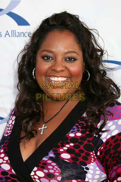 SHERRI SHEPHERD.6th Annual Comedy For A Cure at The Music Box Theatre, Hollywood, California, USA..April 1st, 2007.headshot portrait cross crucifix necklace .CAP/ADM/BP.©Byron Purvis/AdMedia/Capital Pictures