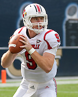 Louisville quarterback Adam Froman. The Pitt Panthers defeated the Louisville Cardinals 20-3 at Heinz Field, Pittsburgh Pennsylvania on October 30, 2010.
