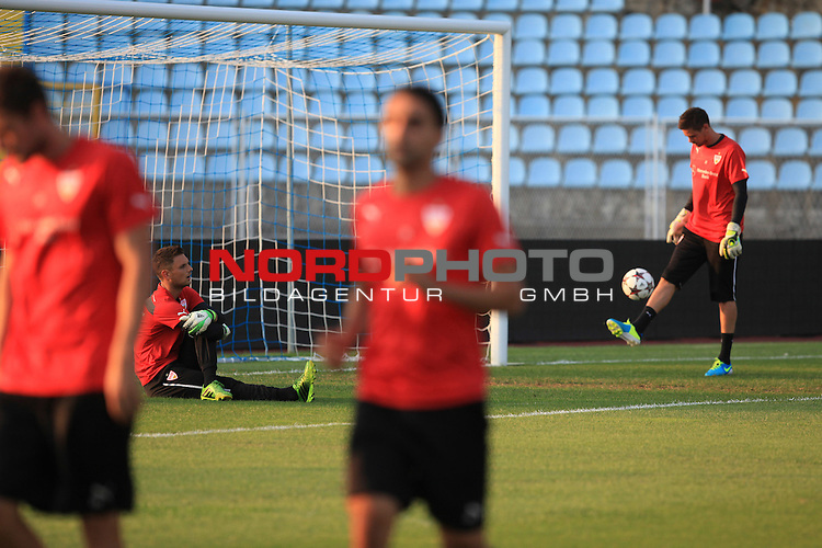 21.08.2013.,Rijeka, Croatia - VfB Stuttgart team's training session held at Kantrida Stadium in Rijeka, Croatia, 21 August 2013. VfB Stuttgart will face HNK Rijeka in the UEFA Europa League soccer play-off in Rijeka on 22 August 2013. <br /> <br /> Foto &copy;  nph / PIXSELL / Nel Pavletic