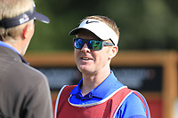 Ross Fisher (ENG) caddy Mark Sherwood on the 14th tee during Thursday's Round 1 of the 2017 Omega European Masters held at Golf Club Crans-Sur-Sierre, Crans Montana, Switzerland. 7th September 2017.<br /> Picture: Eoin Clarke | Golffile<br /> <br /> <br /> All photos usage must carry mandatory copyright credit (&copy; Golffile | Eoin Clarke)