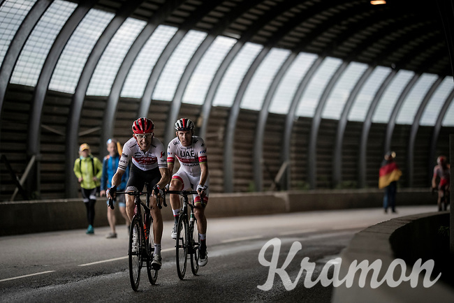 Bauke Mollema  (NED/Trek-Segafredo) 2 km from the finish in Val thorens<br /> <br /> shortened stage 20: Albertville to Val Thorens(59km in stead of the original 130km due to landslides/bad weather)<br /> 106th Tour de France 2019 (2.UWT)<br /> <br /> ©kramon