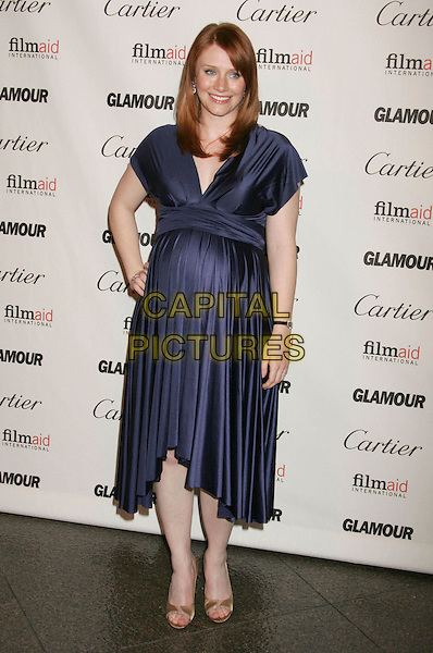 BRYCE DALLAS HOWARD.Glamour Reel Moments Short Film Series Presented by Cartier held at the Director's Guild of America, West Hollywood, California, USA..October 16th, 2006.Ref: ADM/RE.full length blue satin dress hand on hip pregnant.www.capitalpictures.com.sales@capitalpictures.com.©Russ Elliot/AdMedia/Capital Pictures.