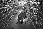 Milton Shoe works. Female factory worker. 1974. Negative file #74-128-A-17