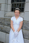 Abagaile Radford.at first communion in Duleek church..Picture:  www.newsfile.ie ..