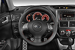 Steering wheel view of a 2009 Subaru Impreza Wagon WRX