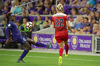Orlando, FL - Tuesday August 08, 2017: Chioma Ubogagu , Alyssa Kleiner during a regular season National Women's Soccer League (NWSL) match between the Orlando Pride and the Chicago Red Stars at Orlando City Stadium.