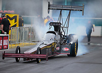 Mar 16, 2019; Gainesville, FL, USA; NHRA top fuel driver Pat Dakin during qualifying for the Gatornationals at Gainesville Raceway. Mandatory Credit: Mark J. Rebilas-USA TODAY Sports