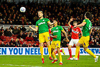 Preston North End's Jayden Stockley scores the winning goal<br /> <br /> Photographer Alex Dodd/CameraSport<br /> <br /> The EFL Sky Bet Championship - Middlesbrough v Preston North End - Wednesday 13th March 2019 - Riverside Stadium - Middlesbrough<br /> <br /> World Copyright &copy; 2019 CameraSport. All rights reserved. 43 Linden Ave. Countesthorpe. Leicester. England. LE8 5PG - Tel: +44 (0) 116 277 4147 - admin@camerasport.com - www.camerasport.com