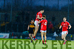 David Clifford, celebrates with Niall Donohue, East Kerry   after the Kerry County Senior Club Football Championship Final match between East Kerry and Dr. Crokes at Austin Stack Park in Tralee, Kerry.