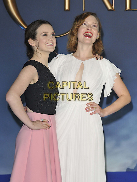 LONDON, ENGLAND - MARCH 19: Sophie McShera &amp; Holliday Grainger attend the &quot;Cinderella&quot; UK film premiere, Odeon Leicester Square cinema, Leicester Square, on Thursday March 19, 2015 in London, England, UK. <br /> CAP/CAN<br /> &copy;Can Nguyen/Capital Pictures