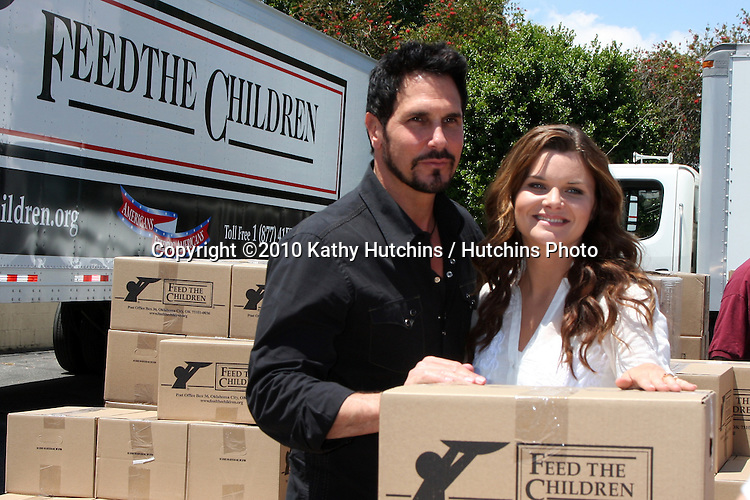 """Don Diamont & Heather Tom.at the """"Daytime Gives Back"""" Feed The Children Event.Salvation Army.Van Nuys, CA.May 26, 2010.©2010 Kathy Hutchins / Hutchins Photo.."""