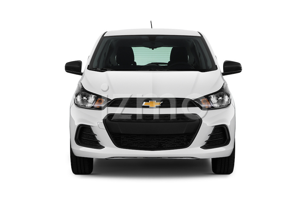 Car photography straight front view of a 2016 Chevrolet Spark LS Manual 1SA 5 Door Hatchback Front View
