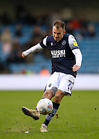 9th February 2020; The Den, London, England; English Championship Football, Millwall versus West Bromwich Albion; Jed Wallace of Millwall taking a free kick