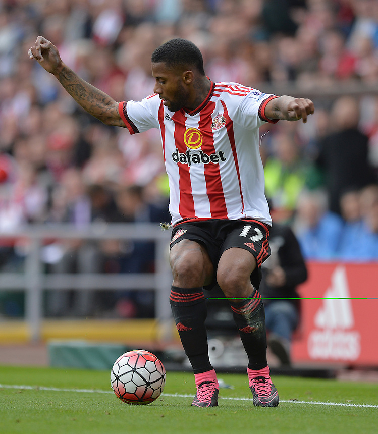 Sunderland's Jeremain Lens<br /> <br /> Photographer Dave Howarth/CameraSport<br /> <br /> Football - Barclays Premiership - Sunderland v Tottenham Hotspur - Sunday 13th September 2015 - Stadium of Light - Sunderland<br /> <br /> &copy; CameraSport - 43 Linden Ave. Countesthorpe. Leicester. England. LE8 5PG - Tel: +44 (0) 116 277 4147 - admin@camerasport.com - www.camerasport.com