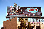 Rock group Queen billbooard on the Sunset Strip in Los Angeles
