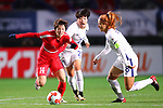 (L-R) <br /> Ri Hyang Sim (PRK), <br /> Han Chaerin, <br /> Cho Sohyun (KOR), <br /> DECEMBER 11, 2017 - Football / Soccer : <br /> EAFF E-1 Football Championship 2017 Women's Final match <br /> between North Korea 1-0 South Korea <br /> at Fukuda Denshi Arena in Chiba, Japan. <br /> (Photo by Naoki Nishimura/AFLO)