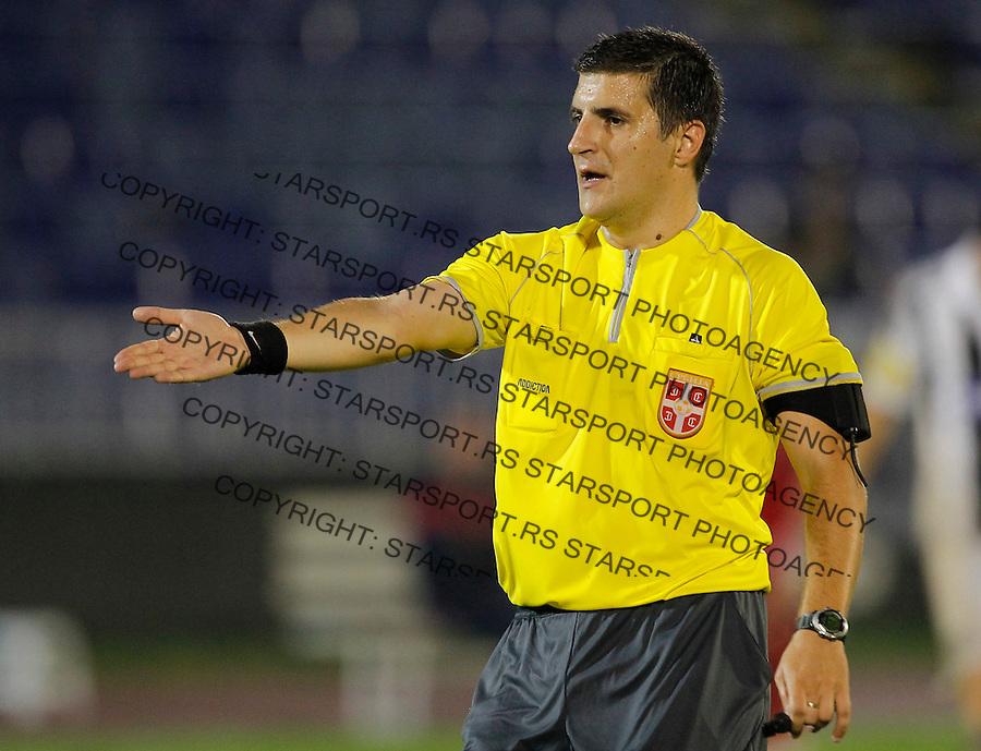 Fudbal Super liga season 2013-2014<br /> Partizan v Radnicki Kragujevac<br /> Referee sudija Ninoslav Spasic<br /> Beograd, 25.08.2013.<br /> foto: Srdjan Stevanovic/Starsportphoto &copy;