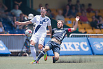 Olympique Marseille (in navy blue) vs HKFC Captain's Select (in white) during their Main Tournament Cup Quarter-Final match, part of the HKFC Citi Soccer Sevens 2017 on 28 May 2017 at the Hong Kong Football Club, Hong Kong, China. Photo by Marcio Rodrigo Machado / Power Sport Images