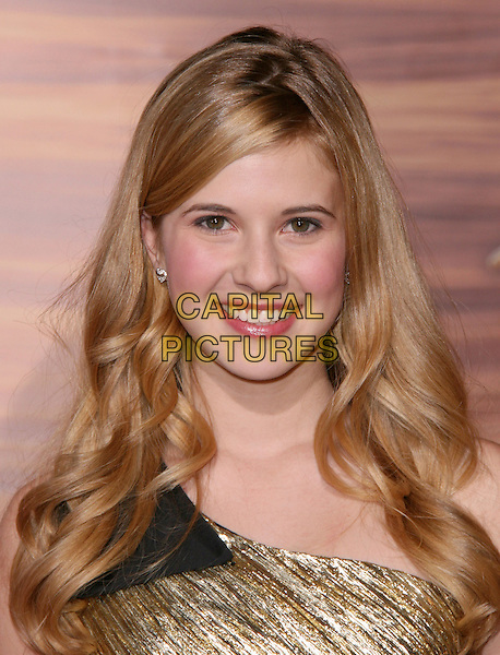 "CAROLINE SUNSHINE .Disney Premiere of ""Tangled"" held at El Capitan Theatre in Hollywood, California, USA..November 14th, 2010.headshot portrait black gold one shoulder .CAP/RKE/DVS.©DVS/RockinExposures/Capital Pictures."