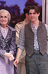 Mary Beth Peil and Derek Klena during Broadway Opening Night Performance Curtain Call bows for 'Anastasia' at the Broadhurst Theatre on April 24, 2017 in New York City.
