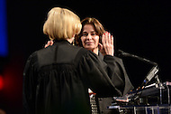 Washington, DC - January 2, 2015: Councilmember Mary Cheh takes the oath of office as Ward 3 council member during the 2015 inauguration ceremony held at the Washington Convention Center, January 2, 2015. Cheh has served Ward 3 as an elected member of the Council since 2007. (Photo by Don Baxter/Media Images International)