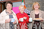 Enjoying the coffee morning to raise funds for the Killorglin Plouha twinning committee to mark the 10th anniversary of the iniatitive are: .L-R Eileen O'Sullivan, Mary Murphy and Dorothy Lynch