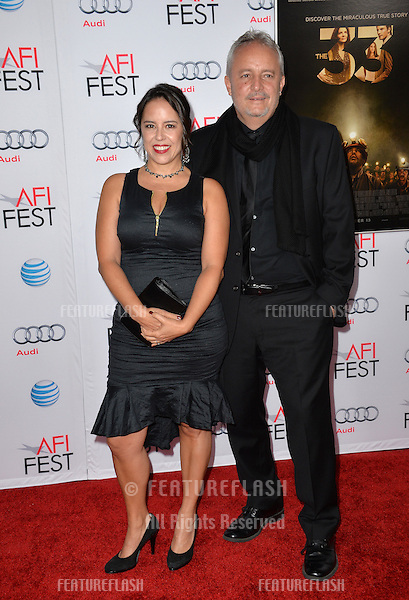 Director Patricia Riggen &amp; husband cinematographer Checco Varese at the premiere of their movie &quot;The 33&quot;, part of the AFI FEST 2015, at the TCL Chinese Theatre, Hollywood. <br /> November 9, 2015  Los Angeles, CA<br /> Picture: Paul Smith / Featureflash