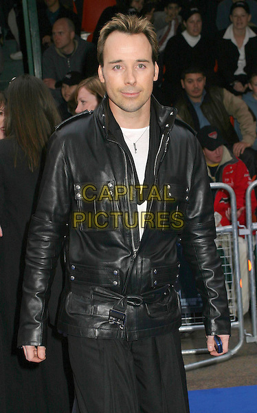 DAVID FURNISH.Attending the X-Men 2 Premiere, Odeon West End, London..24th April 2003 .Ref: Ten.half length, half-length, black leather jacket.www.capitalpictures.com.sales@capitalpictures.com.©Capital Pictures