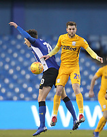 Preston North End's Tom Barkuizen in action with Sheffield Wednesday's Adam Reach <br /> <br /> Photographer Mick Walker/CameraSport<br /> <br /> The EFL Sky Bet Championship - Sheffield Wednesday v Preston North End - Saturday 22nd December 2018 - Hillsborough - Sheffield<br /> <br /> World Copyright &copy; 2018 CameraSport. All rights reserved. 43 Linden Ave. Countesthorpe. Leicester. England. LE8 5PG - Tel: +44 (0) 116 277 4147 - admin@camerasport.com - www.camerasport.com