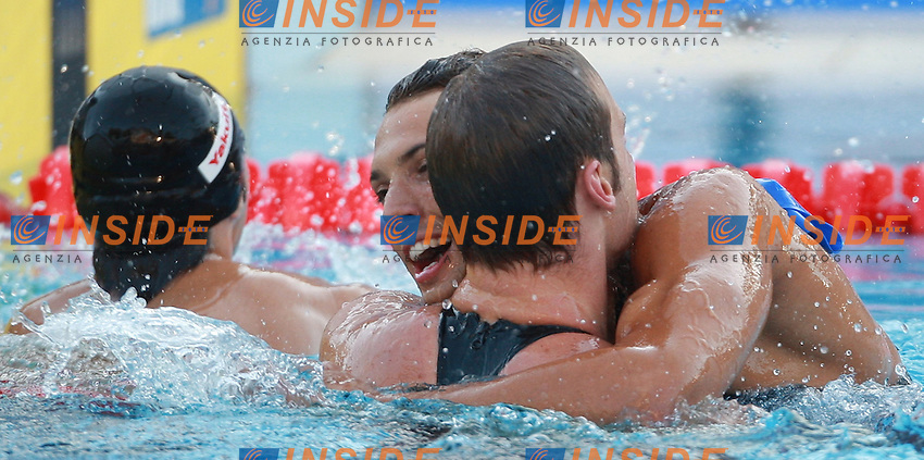 Roma 1st AUGUST 2009 - 13th Fina World Championships .From 17th to 2nd August 2009.Men's 50m Backstroke.Meew Helge GER.With Mirco di Tora ITA.Roma2009.com/InsideFoto/SeaSee.com