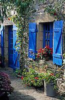 Europe/France/Bretagne/29/Finistère/Cap Sizun/. Cleden: Détail maison