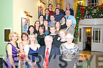 Getting into the festive spirit at the Bardnan Gleann Christmas Party last Friday night in the Dromhall Hotel Killarney.