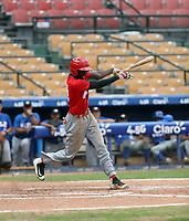 Alvin Guzman participates in the MLB International Showcase at Estadio Quisqeya on February 22-23, 2017 in Santo Domingo, Dominican Republic.