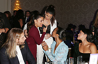 LOS ANGELES, CA - NOVEMBER 8: Roselyn Sanchez, Gina Rodriguez, Zoe Saldana, Eva Longoria, at the Eva Longoria Foundation Dinner Gala honoring Zoe Saldana and Gina Rodriguez at The Four Seasons Beverly Hills in Los Angeles, California on November 8, 2018. Credit: Faye Sadou/MediaPunch