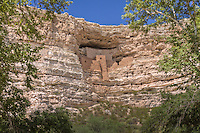 Montezuma Castle National Monument located in Camp Verde, Arizona, is not a castle and the Aztec emperor Montezuma was never there. It is however one of the best-preserved cliff dwellings in the United States. This 20 room high-rise apartment, nestled into a towering limestone cliff, tells a 1,000 year-old story of ingenuity and survival in an unforgiving desert landscape.