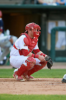 Peoria Chiefs catcher Brian O'Keefe (32) during a game against the West Michigan Whitecaps on May 9, 2017 at Dozer Park in Peoria, Illinois.  Peoria defeated West Michigan 3-1.  (Mike Janes/Four Seam Images)
