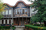 Ethnographic Museum in historic old town area of Plovdiv, Bulgaria occupies the 1847 house merchant Argir Kuyumdzhioglu