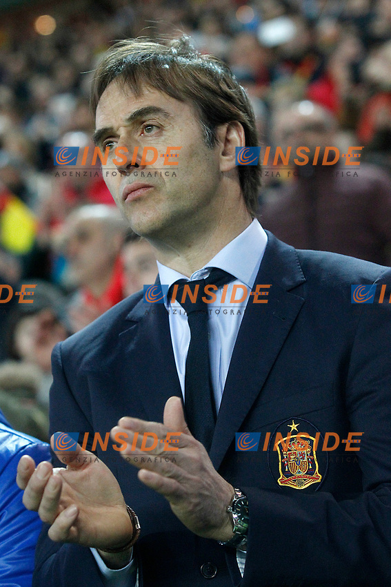 Spain's coach Julen Lopetegui during FIFA World Cup 2018 Qualifying Round match. <br /> Gijon 24-03-2017 Stadio El Molinon <br /> Qualificazioni Mondiali <br /> Spagna - Israele <br /> Foto Acero/Alterphotos/Insidefoto <br /> ITALY ONLY