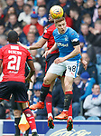 07.04.2018 Rangers v Dundee:<br /> Greg Docherty and Sofien Moussa