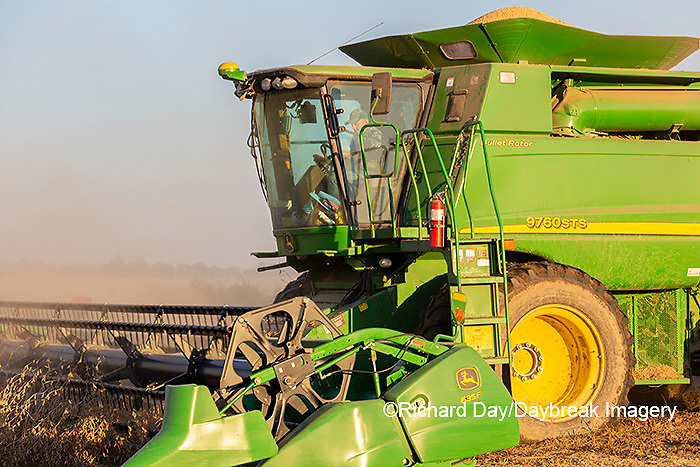 63801-13119 Harvesting soybeans in fall  Marion Co. IL